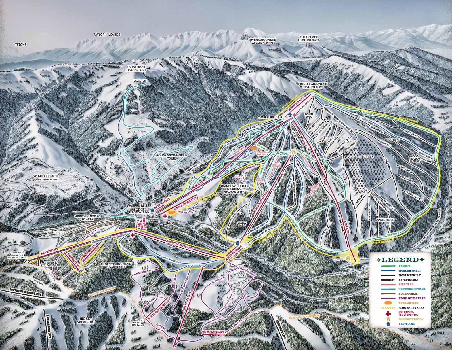 YC Trail Map