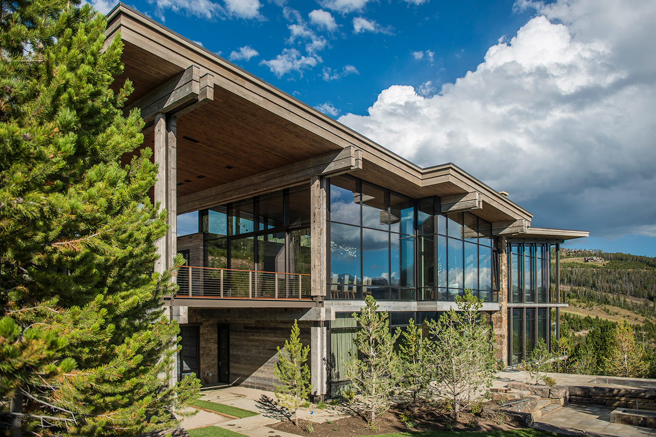 A mountain modern home at Yellowstone Club.