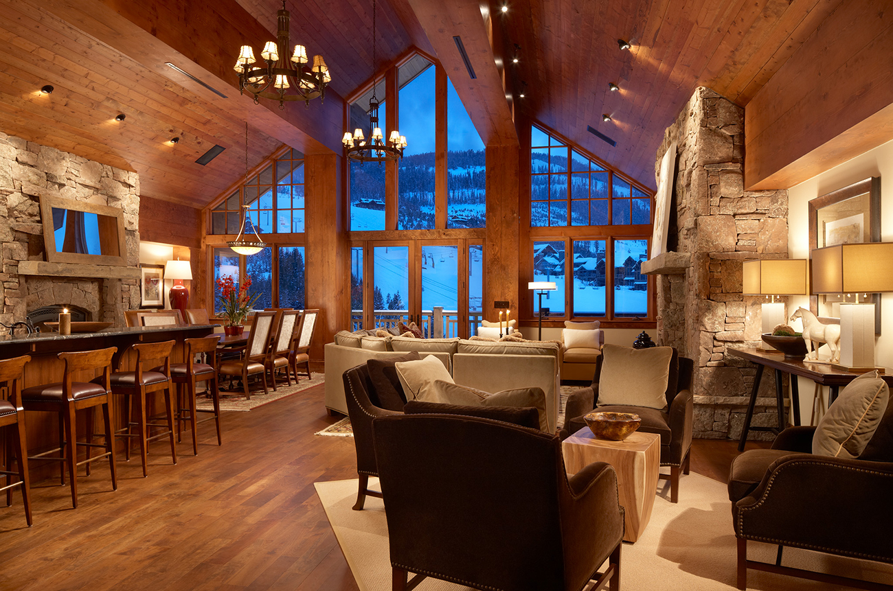 A residence in Warren Miller Lodge.