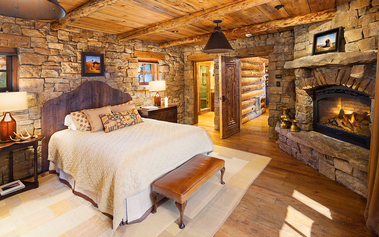 Bedrooms that reflect mountain living style.