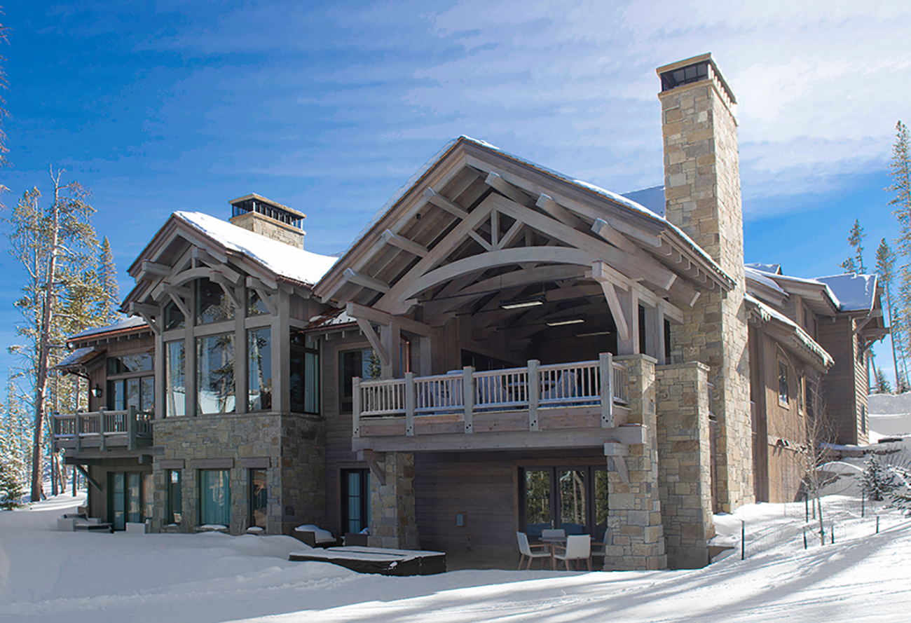 An American Spirit ski-in, ski-out residence.
