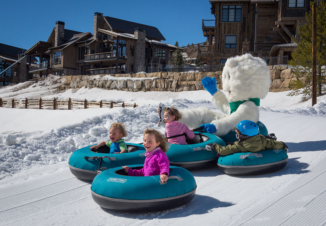 Snowtubing park for the kids.