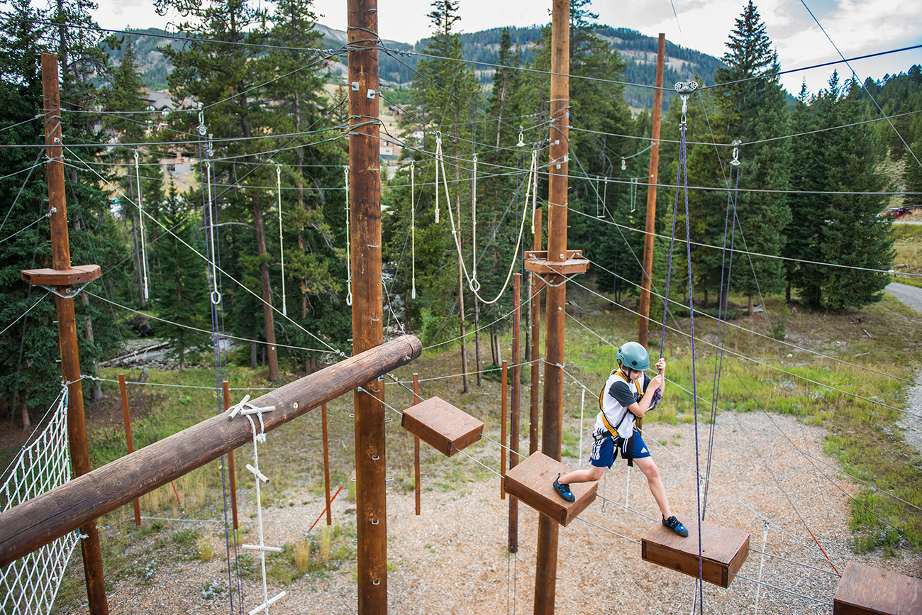 The Challenge Course has activities such as an 80 ft. climb and rappel, gorilla rings, and a zipline.