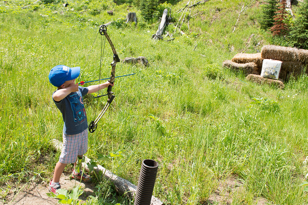 Sharpen your archery skills or develop new ones on the 3D archery course.