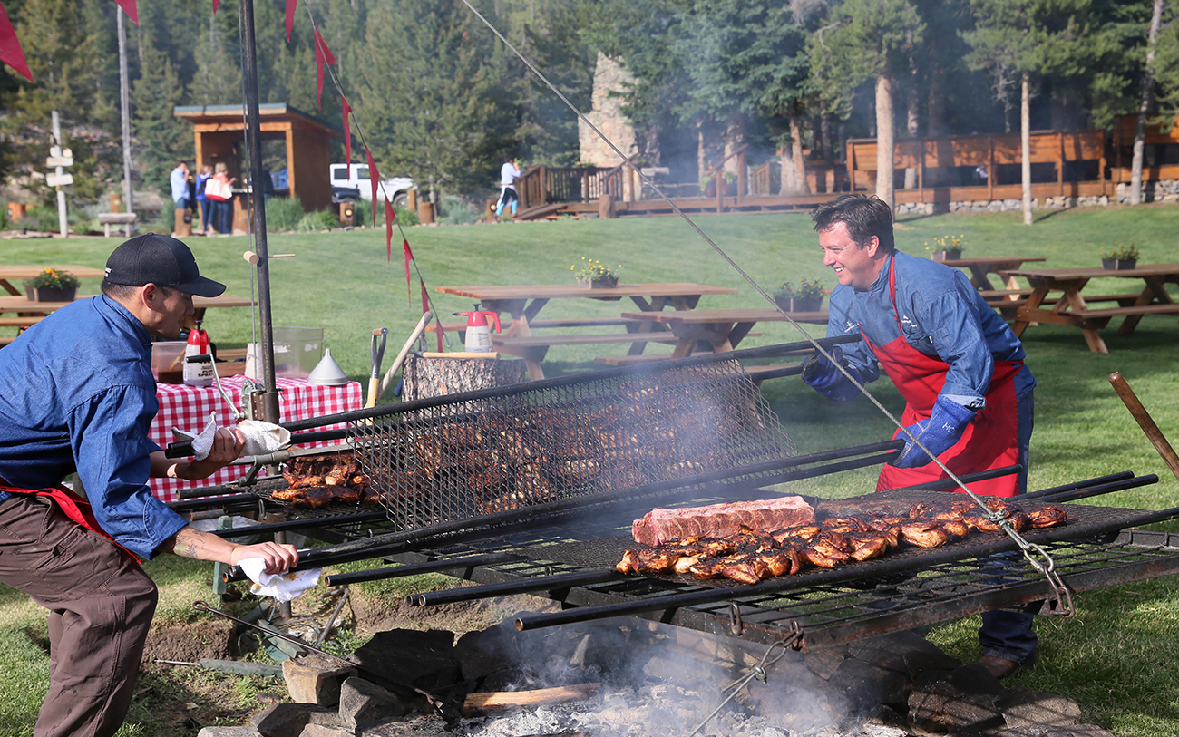 Summer BBQ at Yellowstone Club.